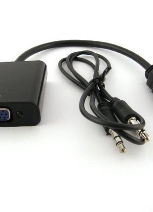 Преобразователь HDMI to VGA со звуком