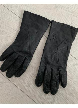 Рукавиці, перчатки жіночі чорні, черные перчатки, кожаные перч...