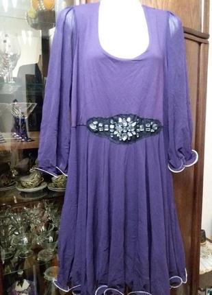 Нарядное платье большого размера-52 54р         вискоза