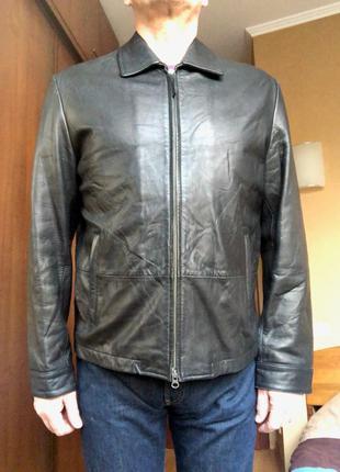 Кожаная куртка banana republic (сша),оригинал,чёрная