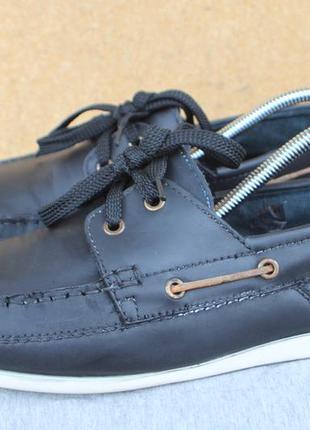 Топсайдеры base london кожа англия 42р туфли мокасины