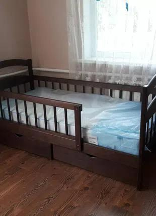 Кровать детская деревянная Карина с натурального дерева кроватка