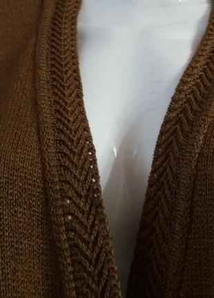 Красивая  кофта-кардиган на пуговицах  горчичного цвета-keeno-...