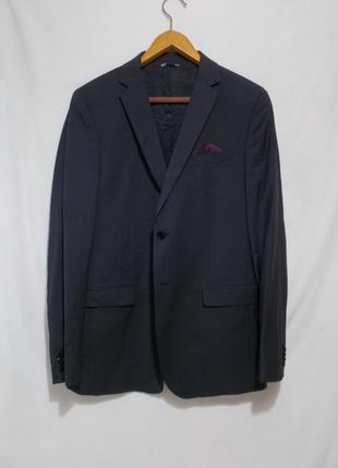 Новый пиджак слим темно-серый тонкая шерсть 'manuel ritz' 48-5...
