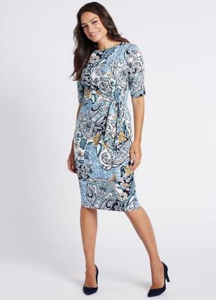 Платье миди 50 52 размер офисное футляр весеннее крутое нарядн...