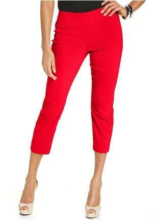 Новые,красные капри,укорочён штаны,брюки,колоты,хлопок, marks ...