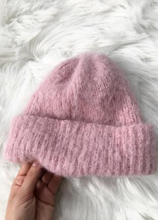 Вязаная шапочка, ручная работа, шапка