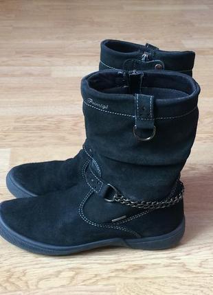 Замшевые ботинки primigi германия 35 размера с мембраной gore-tex