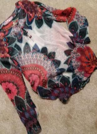 Невесомый блузон-desigual--s-м распродажа  №124
