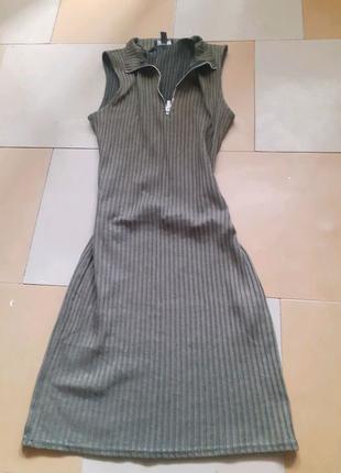 Платье хаки весеннее платье гольф