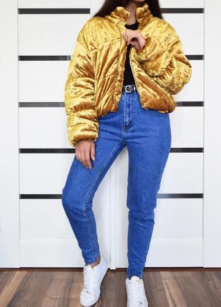 Золотая куртка pretty little thing