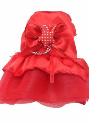 Платье для мелких пород собак праздничное 3518-67