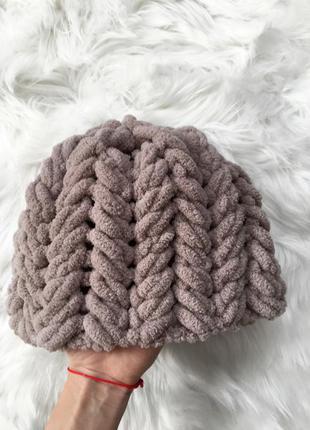 Вязаная шапка, шапочка, ручная работа