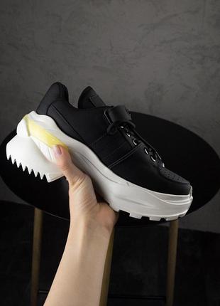 Женские кроссовки ms sneakers black white 1000-1😍