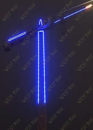 Подсветка башенных кранов(Брендування баштових кранів)