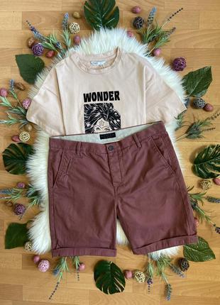 Актуальные хлопковые шорты с подворотом №283max