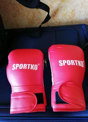 Боксёрские перчатки 10 - 12 унций кож винил