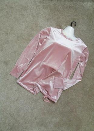 Яркий велюровый блузон -бренд-hm-с м можно беременым