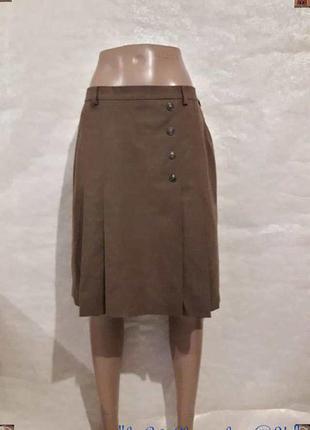 Новая базовая шерстянная на 98% юбка с елементами плессировки ...