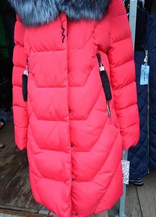 Зимняя женская куртка с натуральным мехом