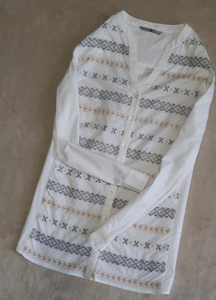 Блузка рубашка с вышивкой орнамент размер 10 tu