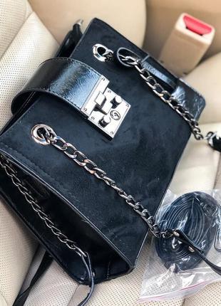 Женская сумка в замше распродажа