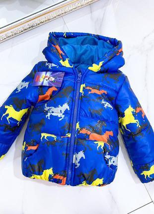 Стильная демисезонная куртка пуховик парка мальчику