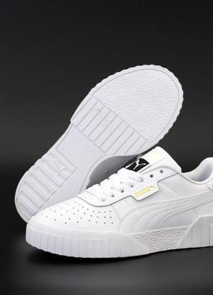 Шикарные женские кожаные кроссовки/ кеды puma унисекс белого ц...