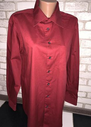 Стильная рубашка бордовая biaggini
