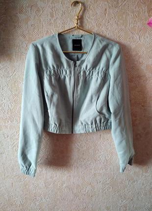 Стильная замшевая укороченая курточка vero moda