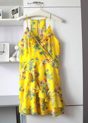 Новое воздушное желтое хлопковое платье от mango