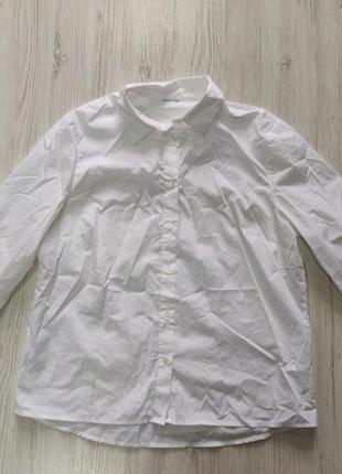 Белая рубашка с укороченными рукавами
