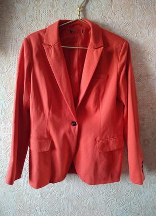 Стильный красный пиджак приталеный #розвантажуюсь