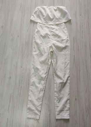 Распродажа до 10 апреля!!!🔥 белый комбинезон без рукавов с дли...