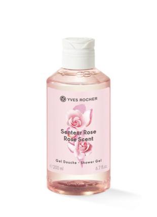 Парфюмированный гель для душа свежая роза senteur rose rose sc...