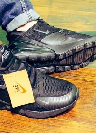 Мужские кроссовки найк чёрные Nike Air Max 270