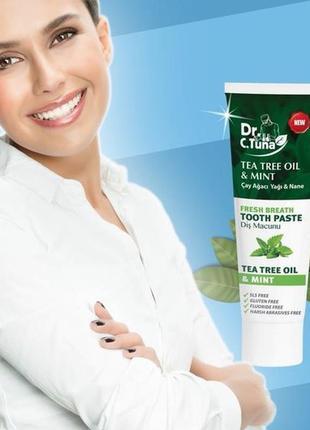 Акция_ зубная паста с маслом чайного дерева dr. tuna tea tree ...