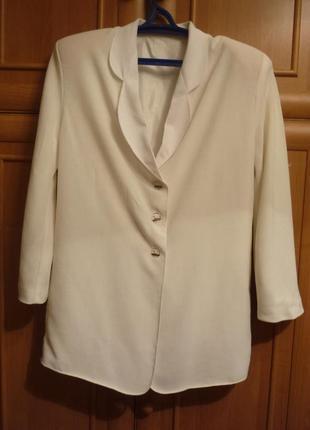 Элегантный легкий свободный пиджак жакет смокинг эксклюзив от ...