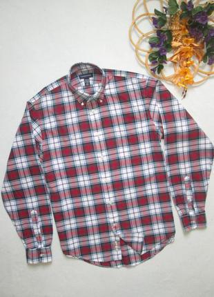 Суперовая трендовая  хлопковая рубашка в крупную клетку шотлан...