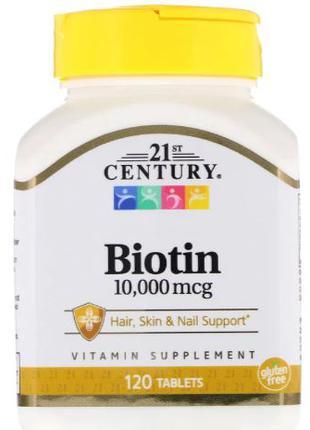 21st Century БИОТИН 10000 мкг, 120 таблеток