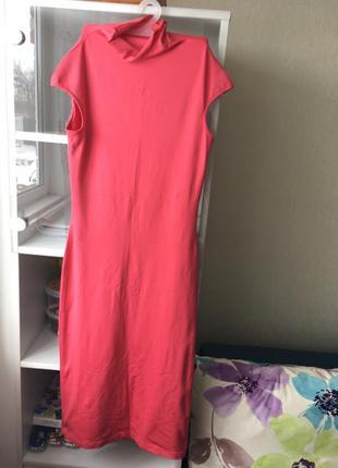 Платье миди розовое красивое размер s