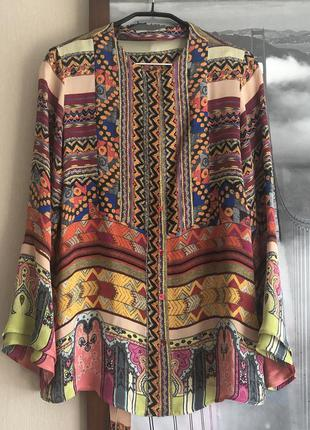 Блуза etro оригинал шёлк женская этро цветная