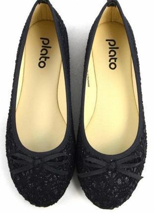 Черные туфли туфельки балетки