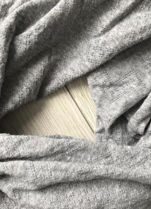 Шарфик, хомут, серый шарф, легкий серый шарф.