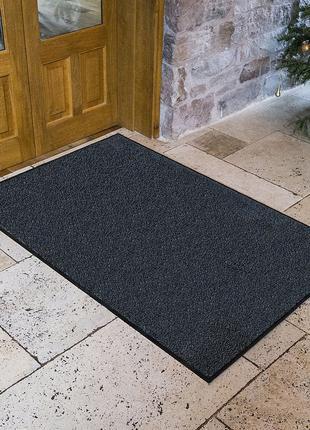 Придверный коврик Париж темно-серый 90х120см.