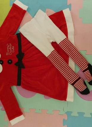Новогоднее платье фирмы George  9-12 мес