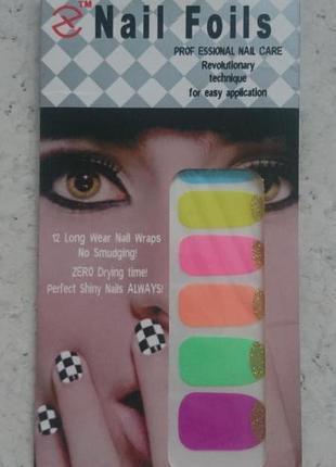 Стикер-лак для ногтей готовый дизайн стикеры