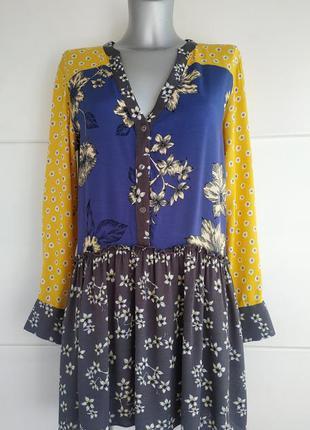Оригинальное платье next с принтом красивых цветов