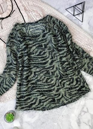 #розвантажуюсь распродажа!модный джемпер-травка в кпутой принт...