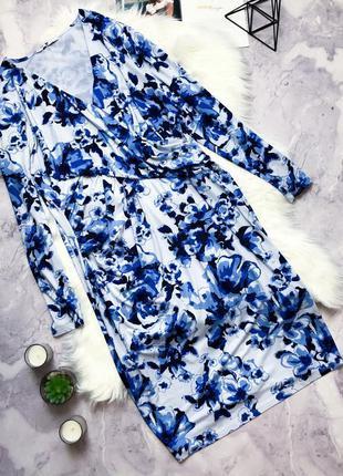 #розвантажуюсь красивое нарядное платье в цветы на запах by very